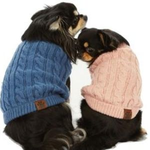 C C KNITTED PET SWEATER